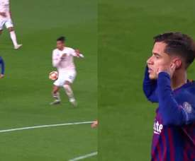 Coutinho a inscrit un 'golazo'. Captures/Movistar