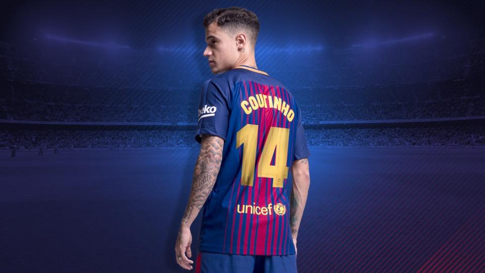 Coutinho debutó oficialmente como jugador del Barcelona