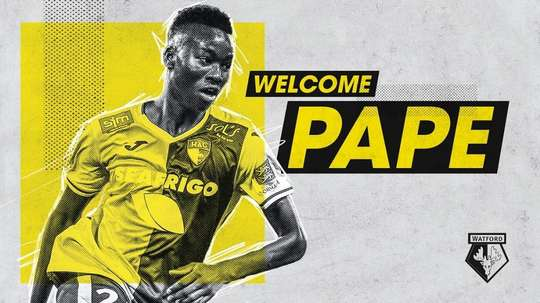 Pape Gueye is Watford's first signing for next season. Twitter/WatfordFC