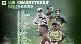 El club de los grandes chaqueteros en la Serie A. ProFootballDB