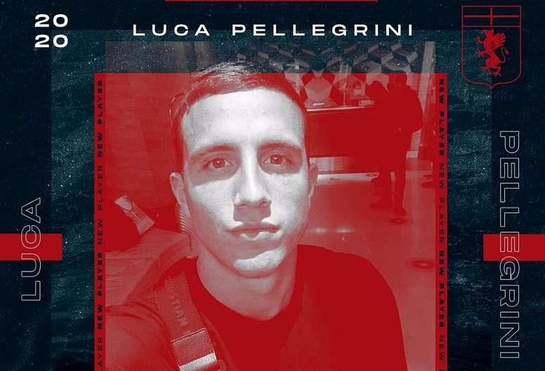 Pellegrini jugó la temporada pasada cedido en el Cagliari. GenoaCFC