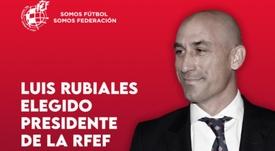Rubiales, presidente de la RFEF hasta 2024. Twitter/RFEF
