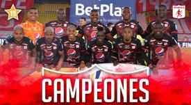 América de Cali, campeón del Apertura 2020. AméricaDeCali