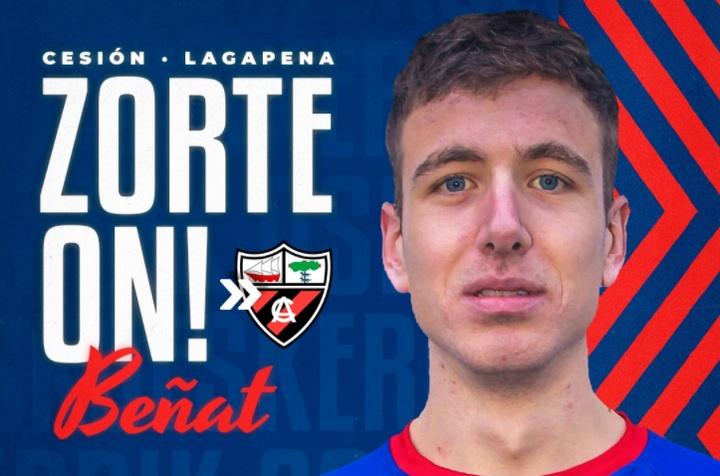 Beñat Garro se marcha cedido al Arenas de Getxo. Twitter/SDAmorebieta