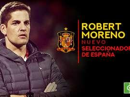 Robert Moreno é o novo treinador da Seleção Espanhola. BeSoccer
