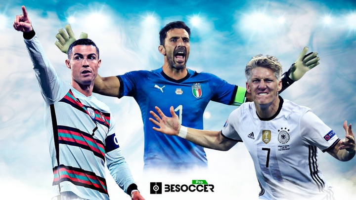 Os jogadores com mais partidas disputadas na Eurocopa. BeSoccer Pro