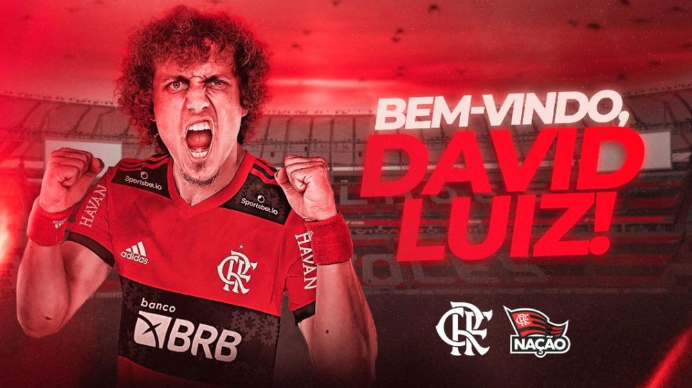 David Luiz agradece a torcedor do Flamengo. Flamengo
