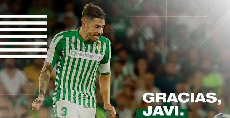 Javi García y el Betis separan sus caminos. RealBetis