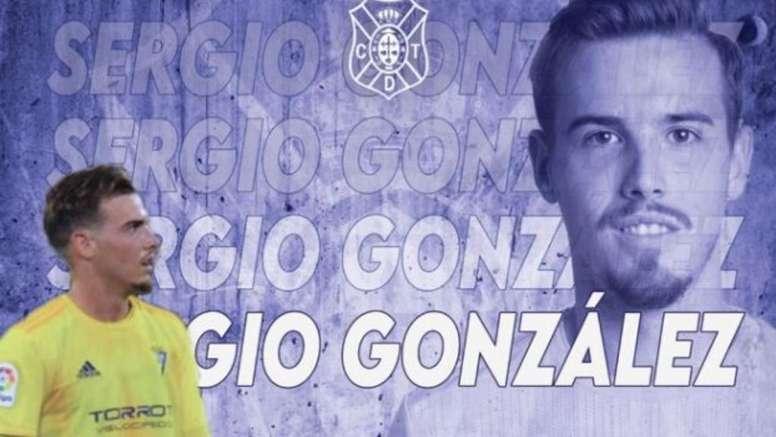 El Cádiz cede a Sergio González al Tenerife. Twitter/CDTOficial