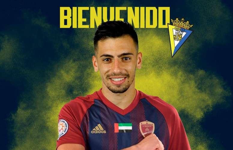 Panadero has signed for Cádiz. Twitter/CadizCF
