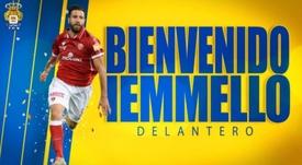 Las Palmas incorpora a Iemmello para reforzar el araque. Twitter/UDLP_Oficial