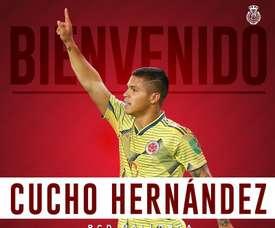 Cucho rejoint Majorque. Twitter/RCD_Mallorca