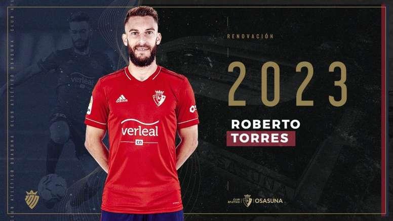 Osasuna renueva a Roberto Torres hasta 2023. CAOsasuna