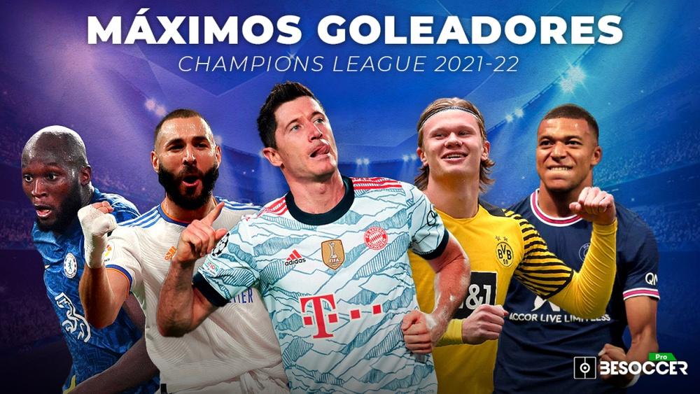 Así va la tabla de goleador de la Champions League 21-22. BeSoccer Pro