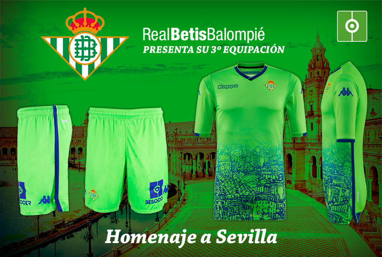 374ed77b5 Pin The creative third kit for Real Betis for the 18 19 season. RealBetis