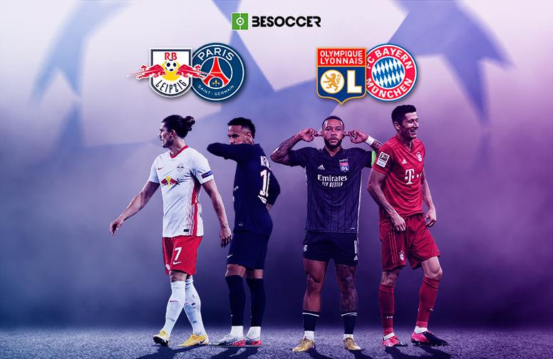 Estos son los semifinalistas de la Champions 2019-20. BeSoccer