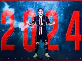 Officiel : Verratti prolonge jusqu'en 2024. Twitter/PSG_Inside