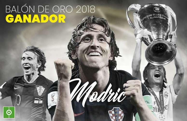 Modric, Balón de Oro 2018. BeSoccer