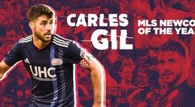 Carles Gil, reconocido por la MLS con un curioso premio entre 200 candidatos. RevolutionSoccer