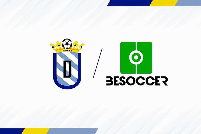 BeSoccer, nuevo patrocinador de la U.D. Melilla. UD Melilla