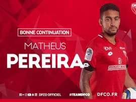 Matheus Pereira retourne à la Juve... et pourrait rebondir au Barça. Twitter/DFCO_Officiel
