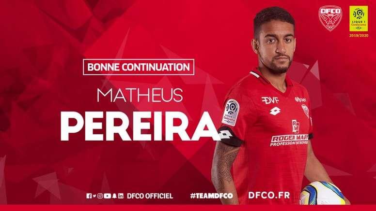 Matheus pode ser emprestado ao Barça. Twitter/DFCO_Officiel