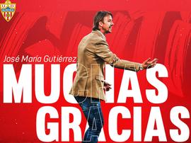 Almería have sacked Guti. Twitter/U_D_Almeria