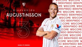 Augustinsson é o novo lateral do Sevilla.SevillaFC