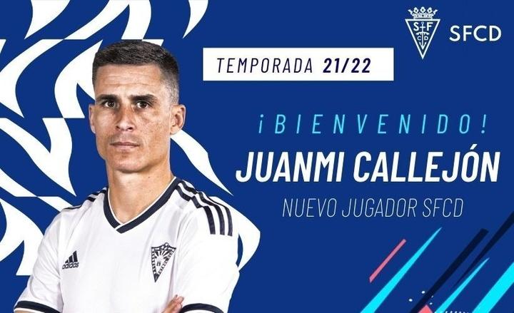 Juanmi Callejón, fichaje mediático del San Fernando. Twitter/SanFernando_CD