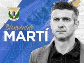 Pep Martí llevará al Leganés en la lucha por el ascenso. Twitter/CDLeganés