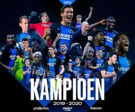Club Brugge have won the league. Twitter/ClubBrugge