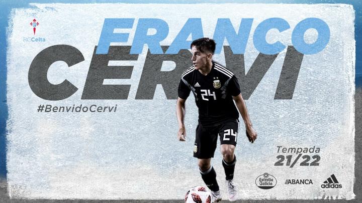 Franco Cervi ya es del Celta. RCCelta