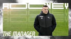 Wayne Rooney, agora ex-jogador e atual treinador do Derby County. DerbyCounty