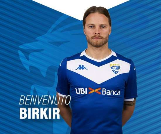 Bjarnason signe à Brescia. Twitter/BresciaOfficial