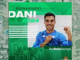 Dani Martín signe au Betis jusqu'en 2024. AFP
