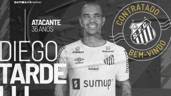 El histórico Diego Tardelli, nuevo jugador de Santos. Twitter/SantosFC