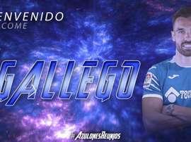 Enric Gallego, nuevo jugador del Getafe. Twitter/GetafeFC