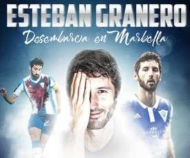 Esteban Granero has moved from Barcelona to Marbella. Twitter/Marbella_fc