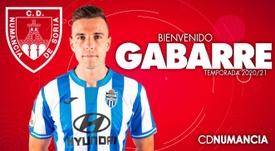 El Numancia ficha gol con Gabarre. CDNumancia