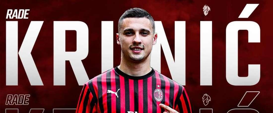 Krunic é reforço do Milan até 2024. ACMilan