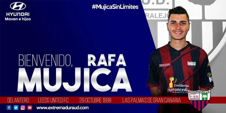 Rafa Mujica jugó 33 partidos la temporada pasada en el Barça B. Twitter/EXT_UD