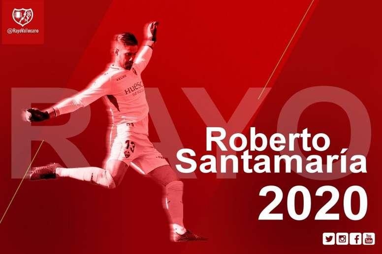 El Rayo ficha a Roberto Santamaría. SDHuesca
