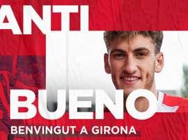 Santi Bueno rejoint Gérone. Twitter/GironaFC