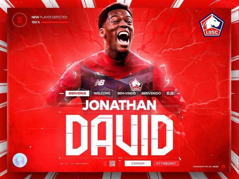 Jonathan David es del Lille. Twitter/losclive