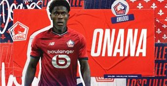 O Lille contrata Onana, joia do futebol belga. Twitter/losclive