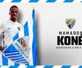 Koné rejoint Malaga. MalagaCF
