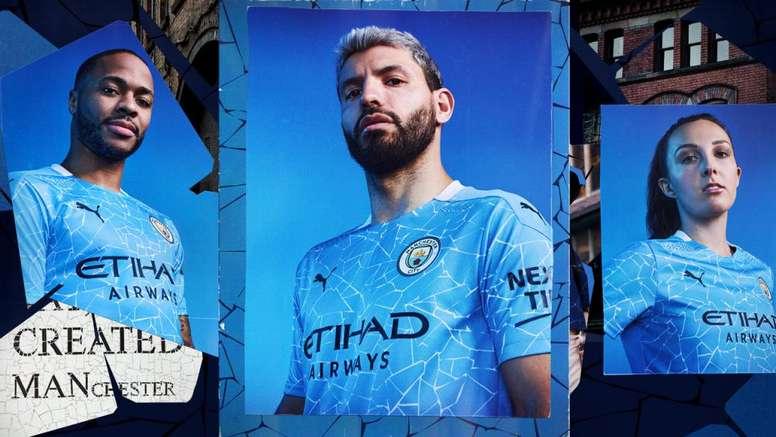 Le nouveau maillot de Manchester City. Twitter/ManCity