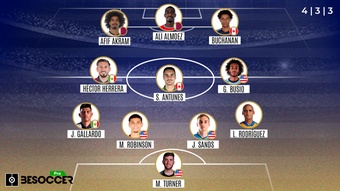 El XI ideal de la Copa Oro 2021. BeSoccer Pro