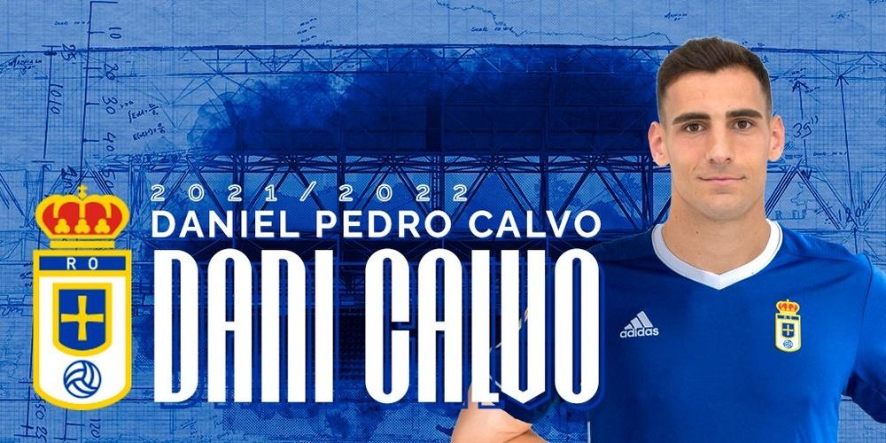 Dani Calvo se incorpora al Real Oviedo. Twitter/RealOviedo
