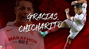Chicharito, transferido ao Los Angeles Galaxy. Twitter/sevillaFC
